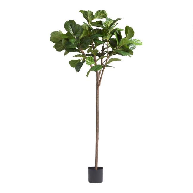 6 Foot Faux Fiddle Leaf Fig Tree | World Market