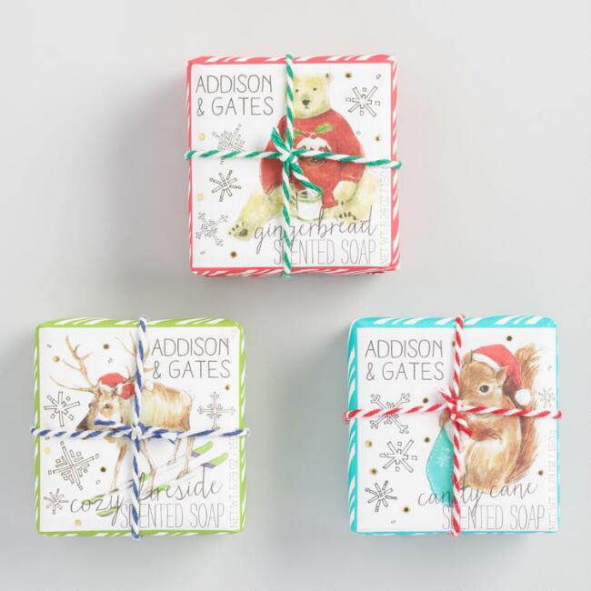 A&G Holiday Animals Bar Soap Collection