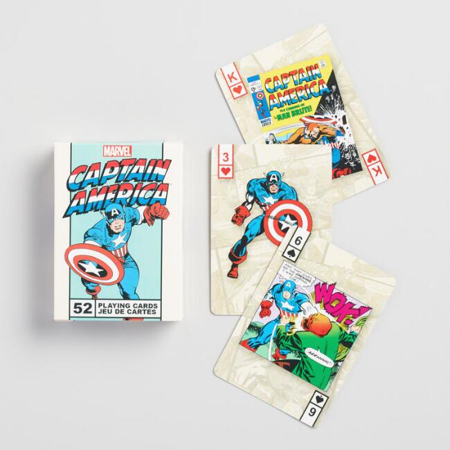 Marvel Comics Captain America Playing Cards