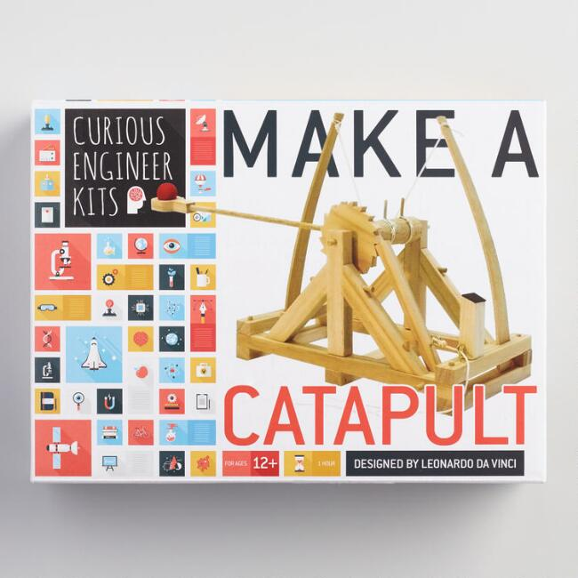 Curious Engineer Wood Make a Catapult Kit