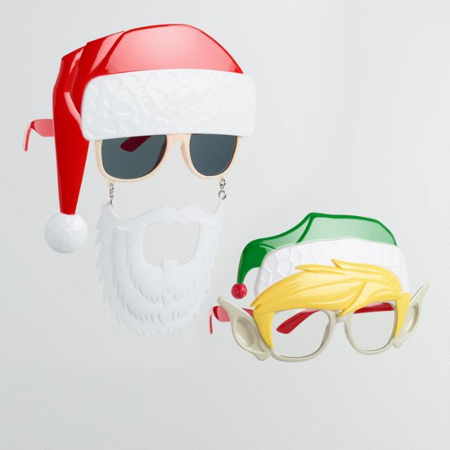 Holiday Sun-Stache Sunglasses