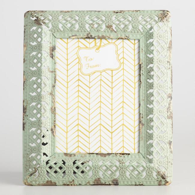 Mint Metal Filigree Frame