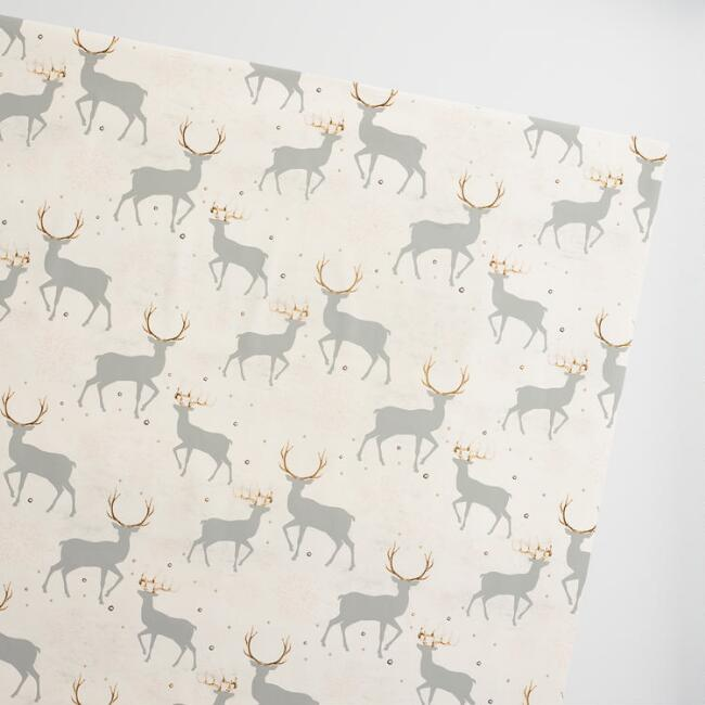 Jumbo Solstice Deer Wrapping Paper Roll