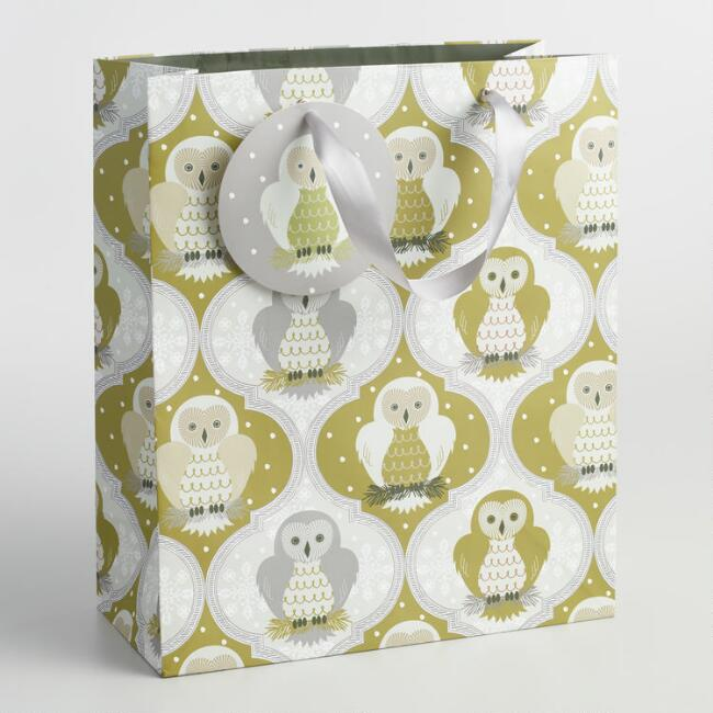 Large Solstice Owls Gift Bag