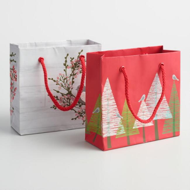 Snowbird Mini Gift Bags Set of 2
