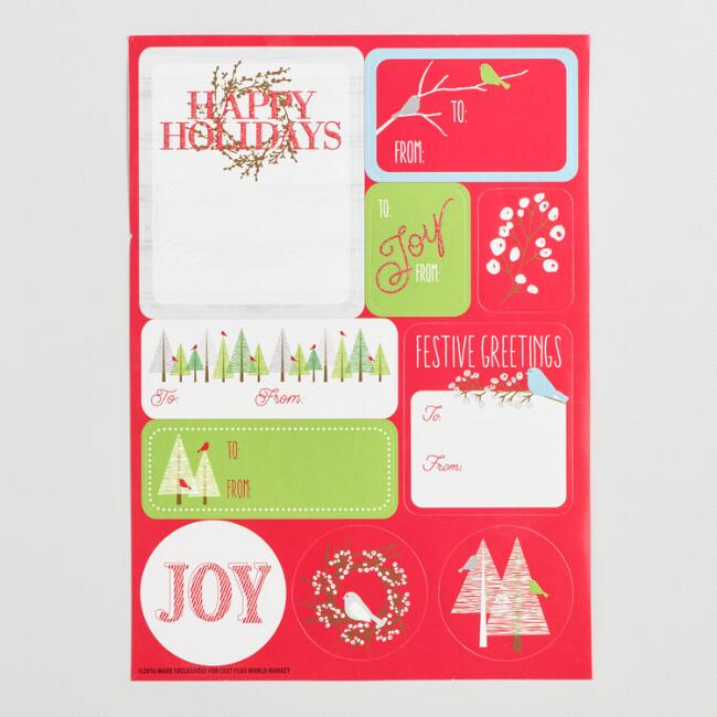 Snowbird Gift Label Sheets 3 Pack