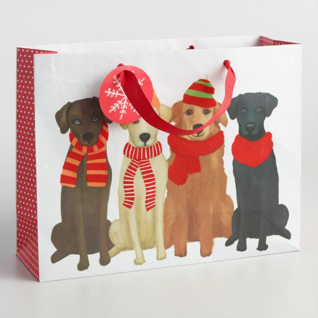 Large Row of Dogs Gift Bag