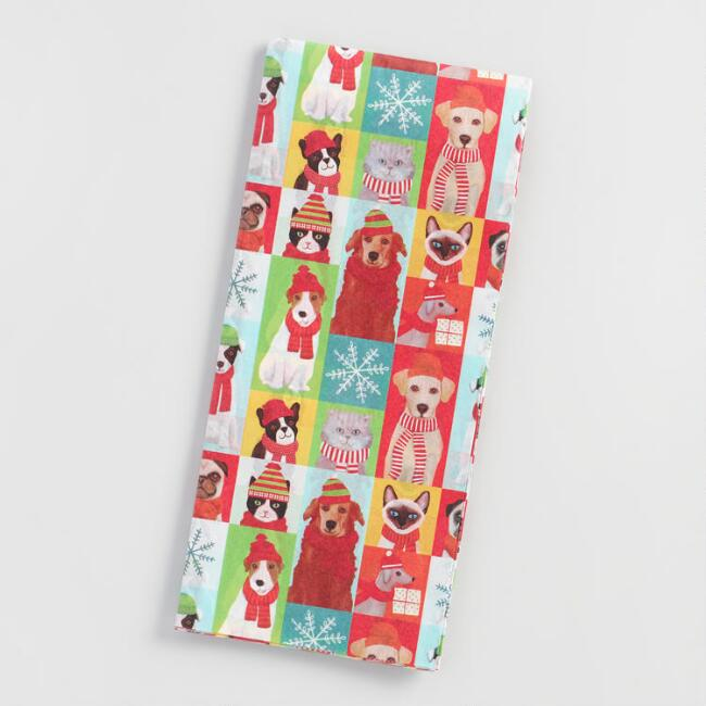 Dogs and Cats Tissue Paper Set of 2