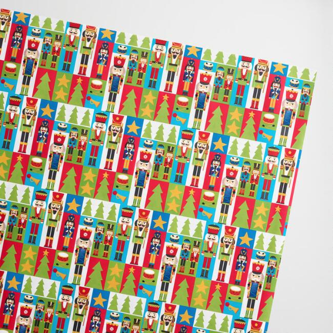 Jumbo Square Nutcrackers Wrapping Paper Roll