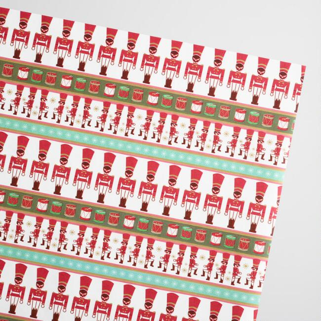 Drummer Boys Kraft Wrapping Paper Roll