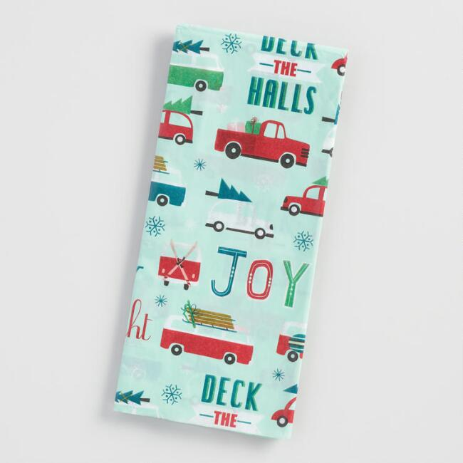 Mint Cars Tissue Paper Set of 2