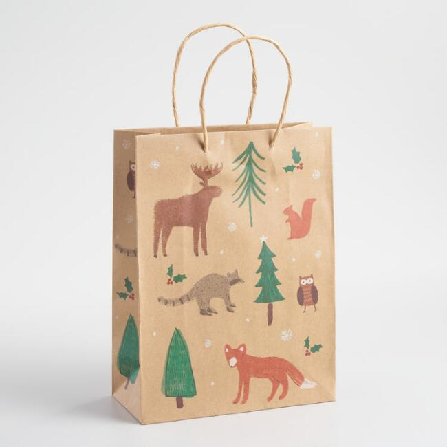 Medium Animals Kraft Gift Bag