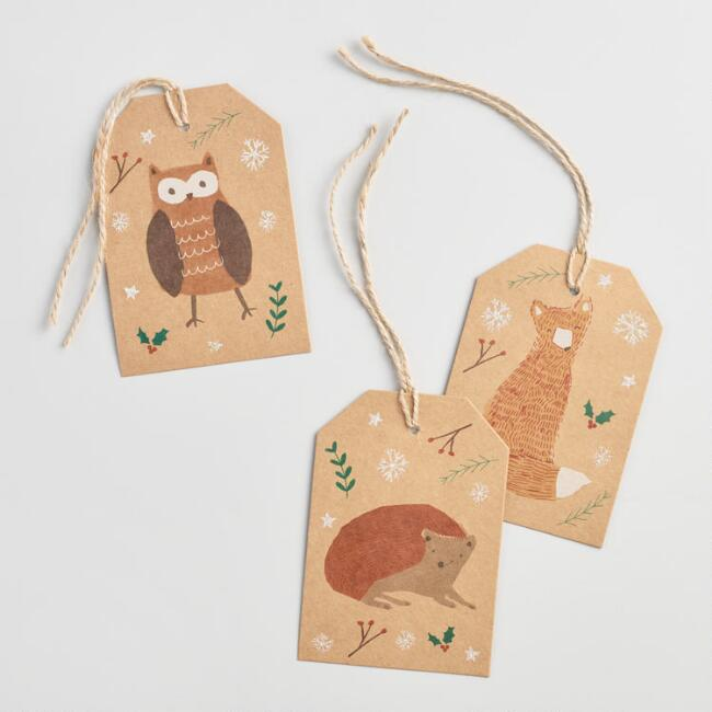 Woodland Creatures Gift Tags Set of 2