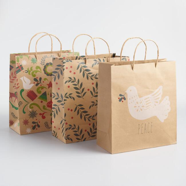 Large Dove Gift Bags Set of 3