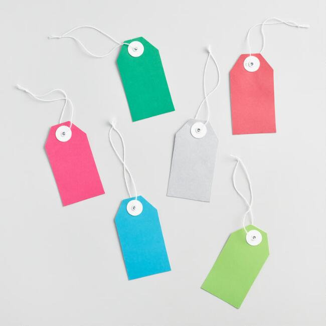 Solid Bright Gift Tags Set of 2