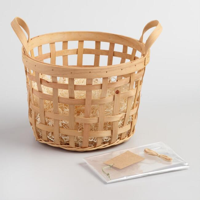 natural apple basket kit world market