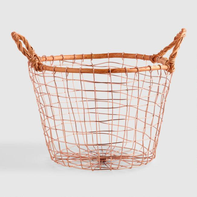 round copper basket world market