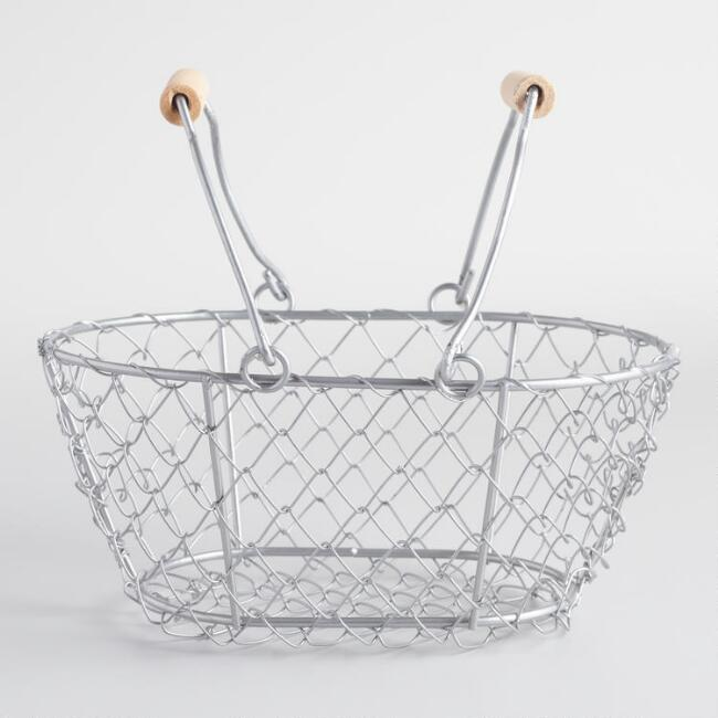 Mini Silver Wire Baskets Set of 2