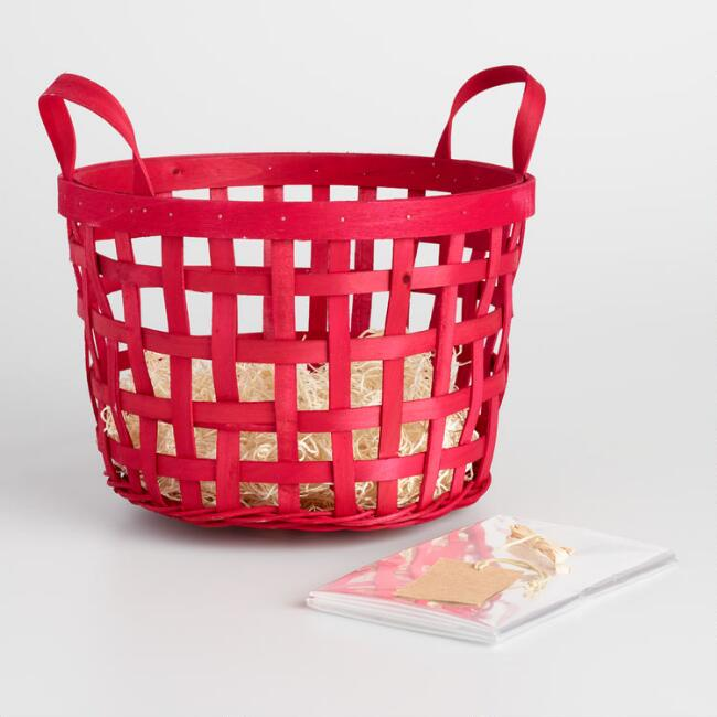 Red Apple Basket Kit