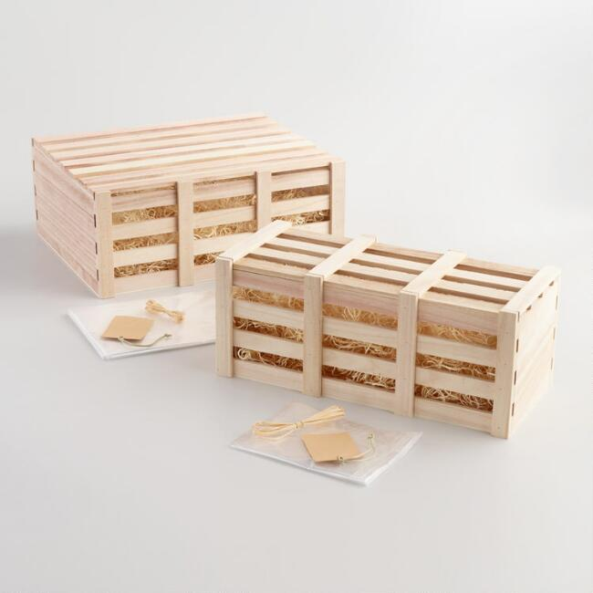 Crate Gift Basket Kit With Lid