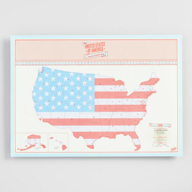 USA Travel Scratch Map | World Market