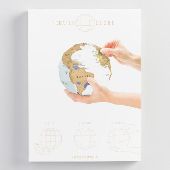 Scratch map globe world market gumiabroncs