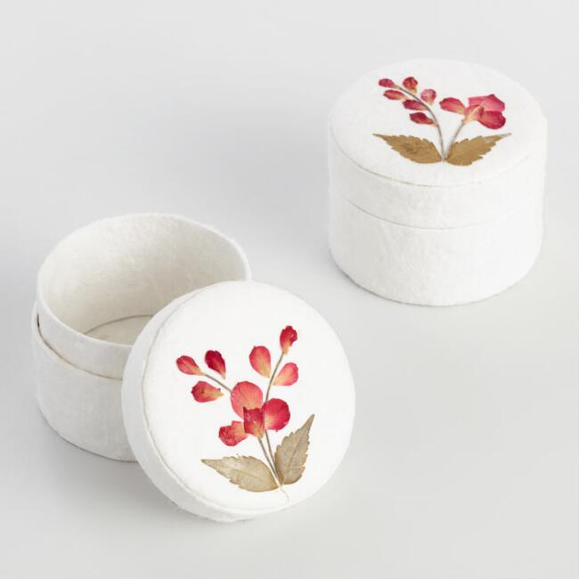 Mulberry Round Trinket Boxes Set of 2