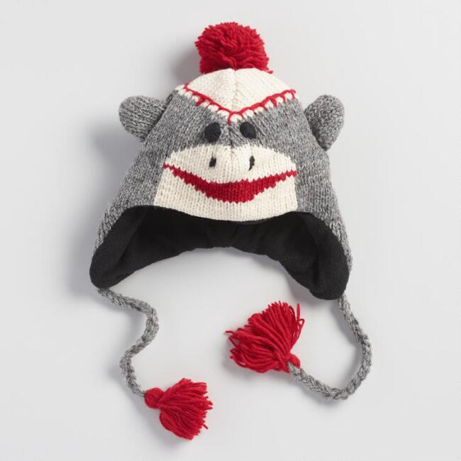 Wool Sock Monkey Hat