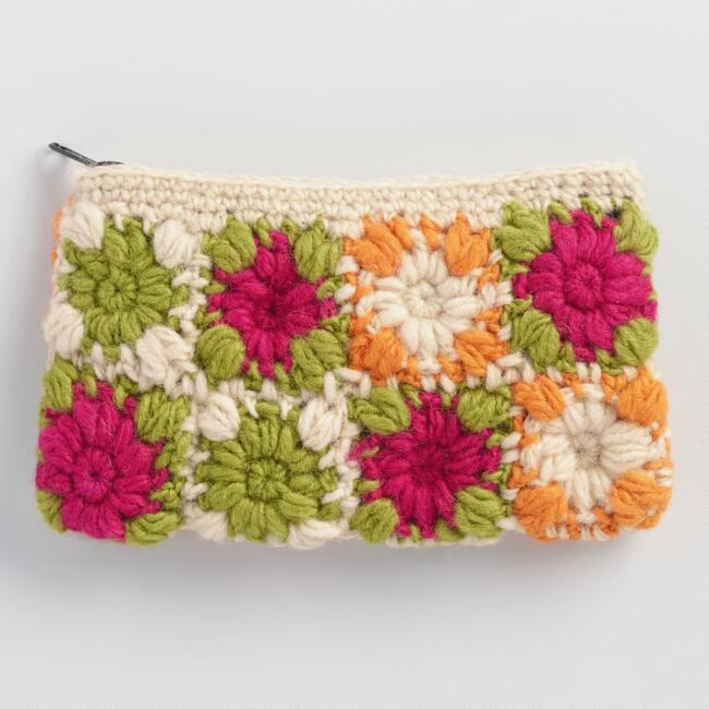 Multicolor Crochet Wool Pouch