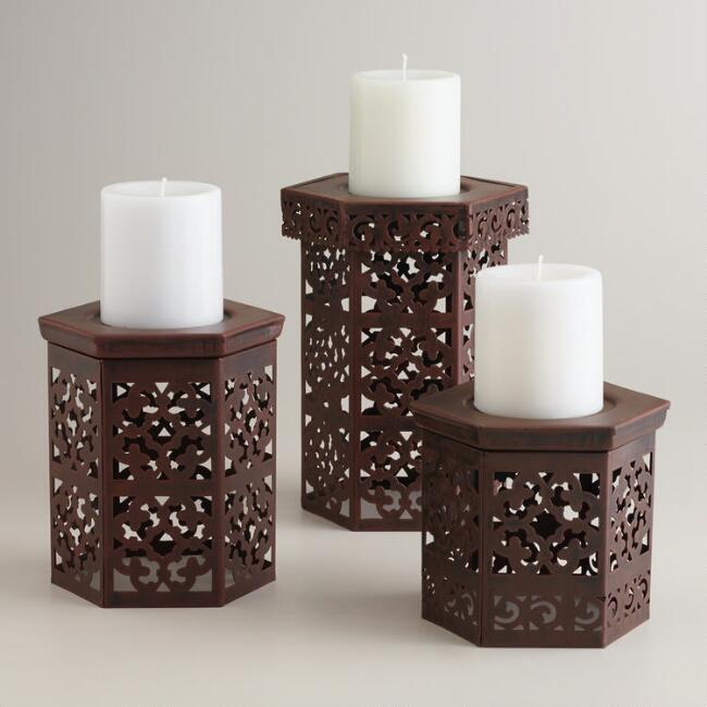 Naveen Pillar Candle Holders