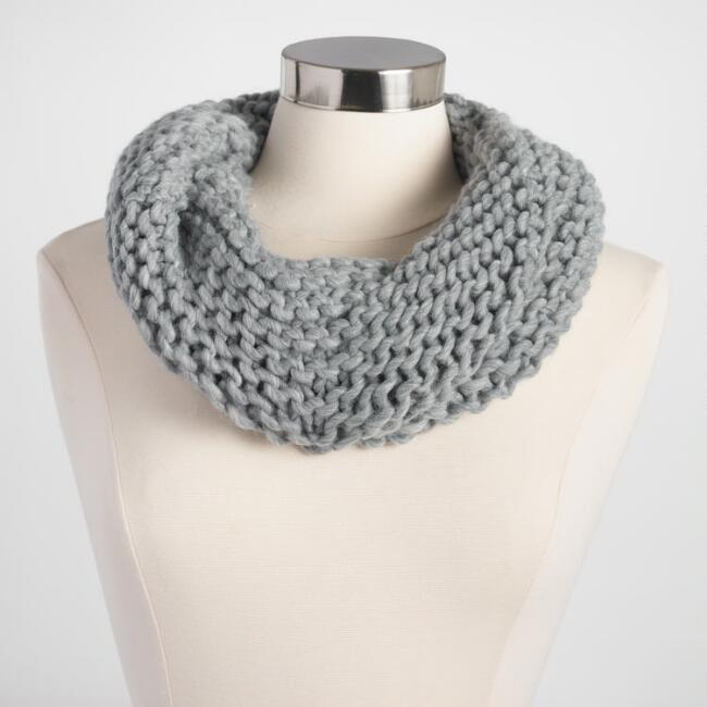 Gray Chunky Knit Snood