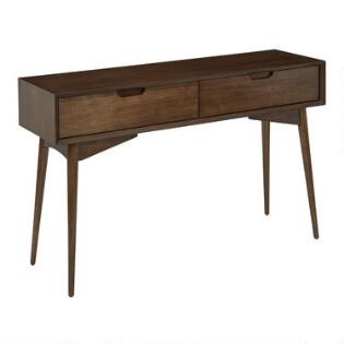 Walnut Brown Wood Brewston Console Table. Wood Console Table   World Market