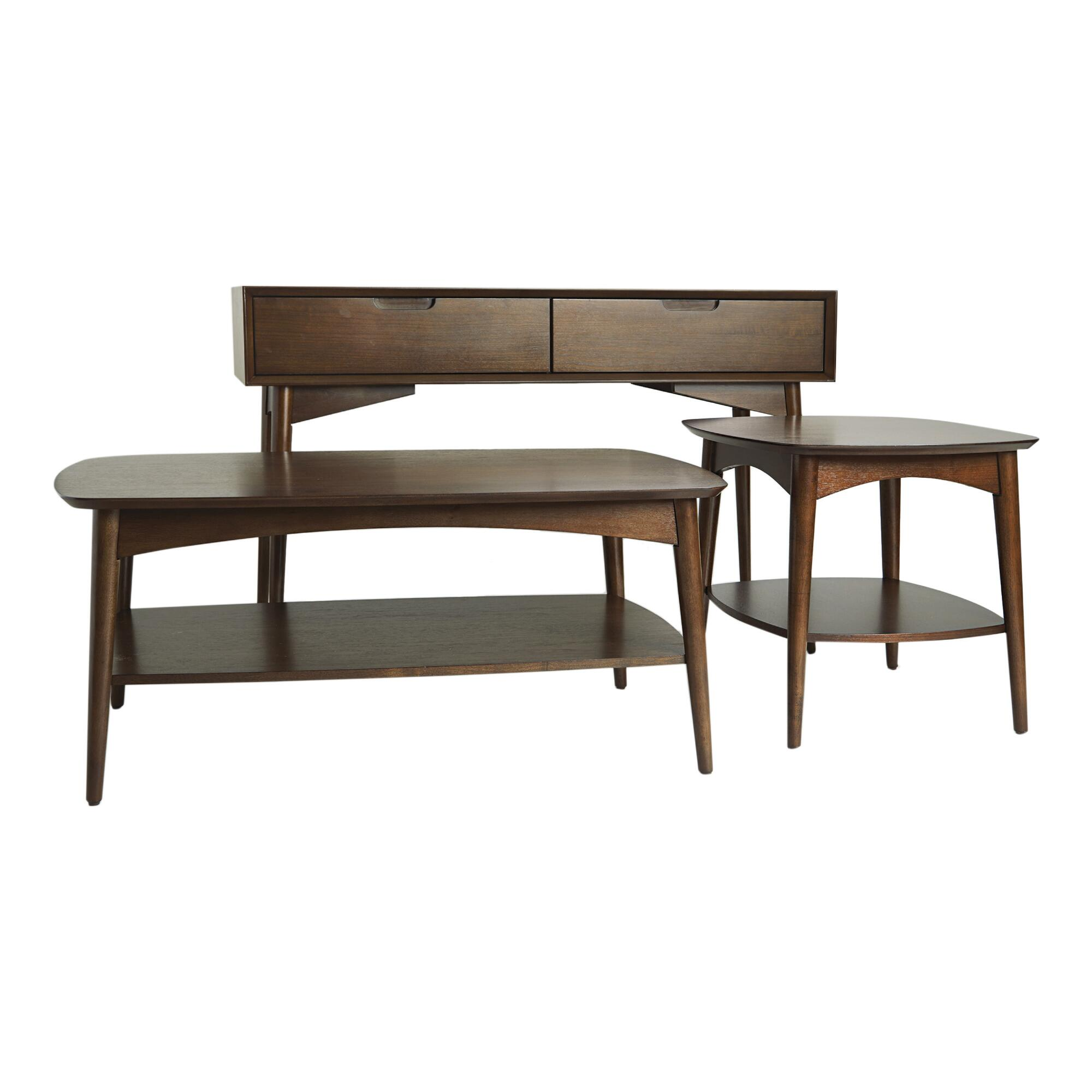 Walnut Brown Wood Brewston Accent Table Collection by World Market