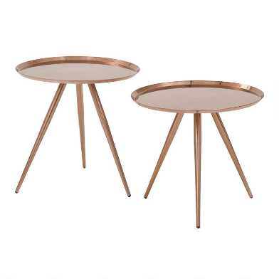 Copper Nesting Tables Set of 2