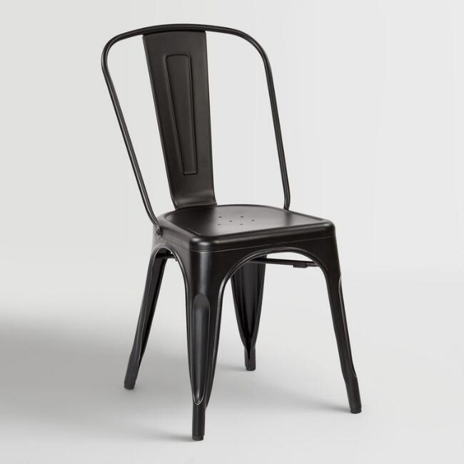 black metal ira dining chairs set of 2 world market