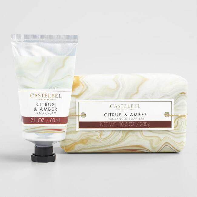 Castelbel Marble Citrus and Amber Bath and Body Collection