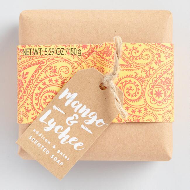 A&G Paisley Mango and Lychee Bar Soap