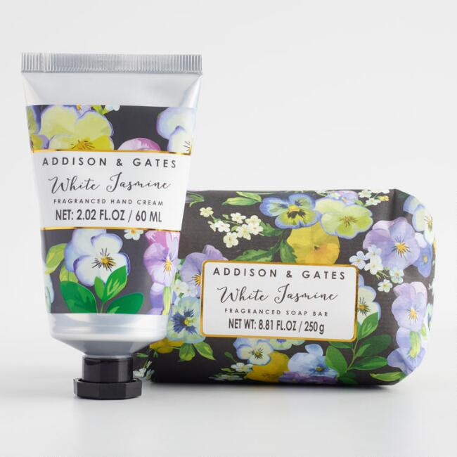 A&G Modern Floral White Jasmine Hand and Body Collection