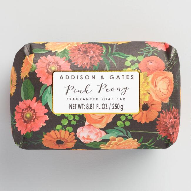 A&G Modern Floral Pink Peony Bar  Soap