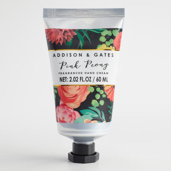 A&G Modern Floral Pink Peony Hand Cream Set of 2