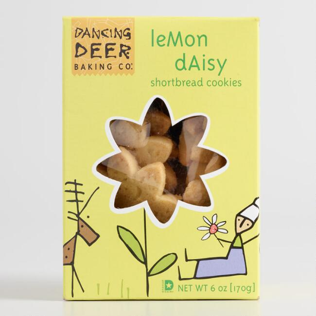 Dancing Deer Lemon Daisy Shortbread Cookies
