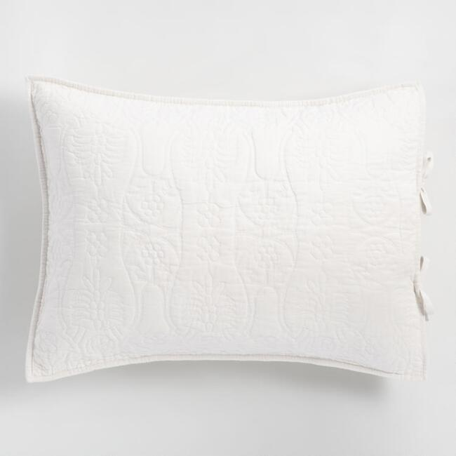 Natural Linen Simone Reversible Pillow Shams Set of 2