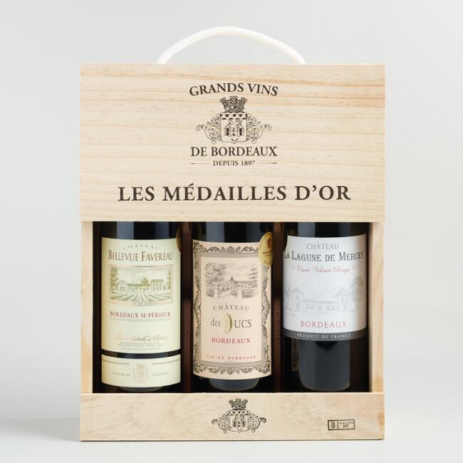 Gold Medal Bordeaux Wine 3 Bottle Gift Set
