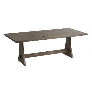 Rustic Wood Brinley Fixed Dining Table