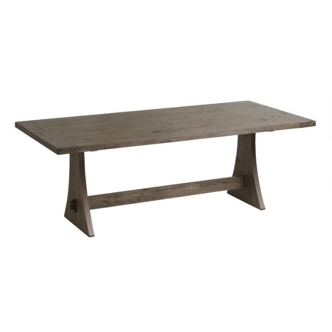 Rustic Wood Brinley Fixed Dining Table World Market - Cheap reclaimed wood dining table
