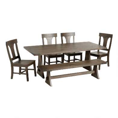 Rustic Wood Brinley Dining Collection