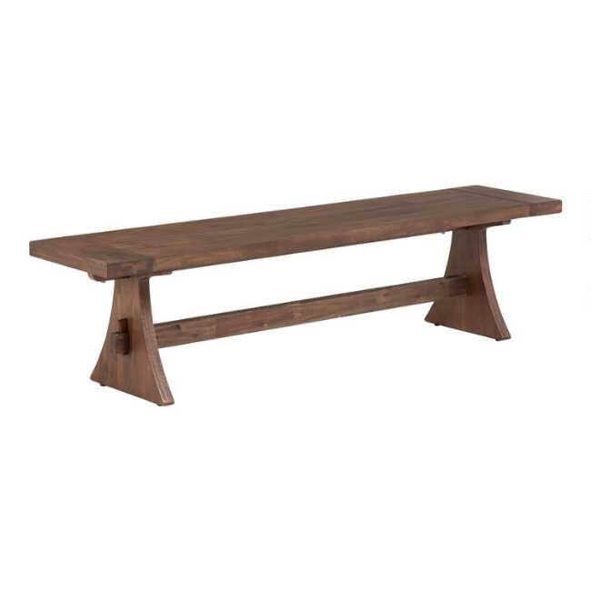 Excellent Rustic Wood Brinley Dining Bench Creativecarmelina Interior Chair Design Creativecarmelinacom