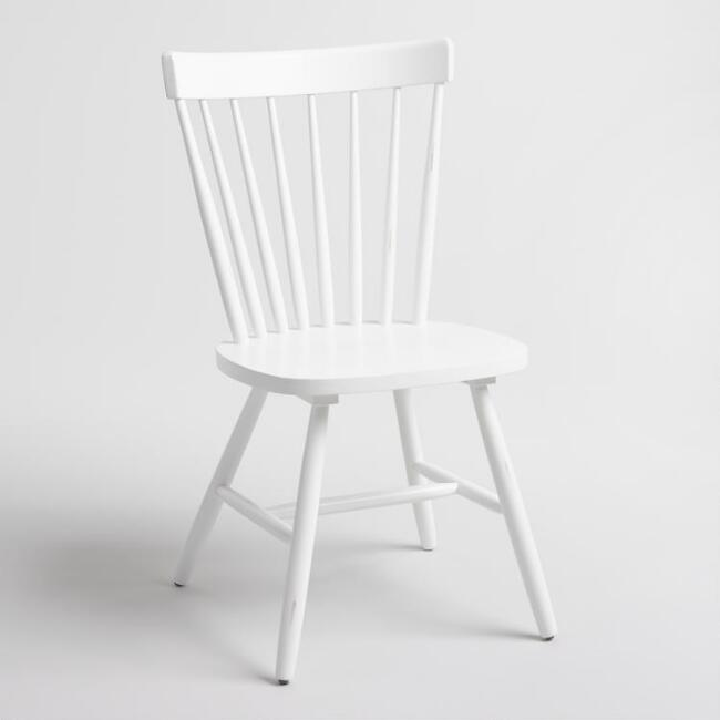 White Wood Stafford Windsor Chairs Set Of 2 World Market