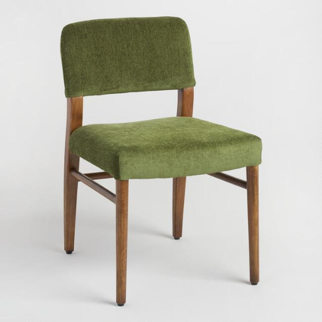 Green Elysse Split Back Upholstered Chairs Set of 2