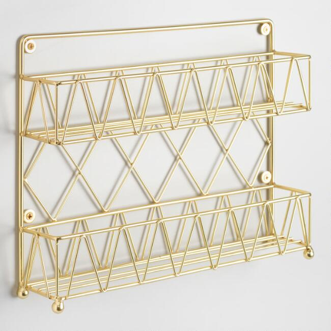 Gold Wire 2 Tier Spice Rack